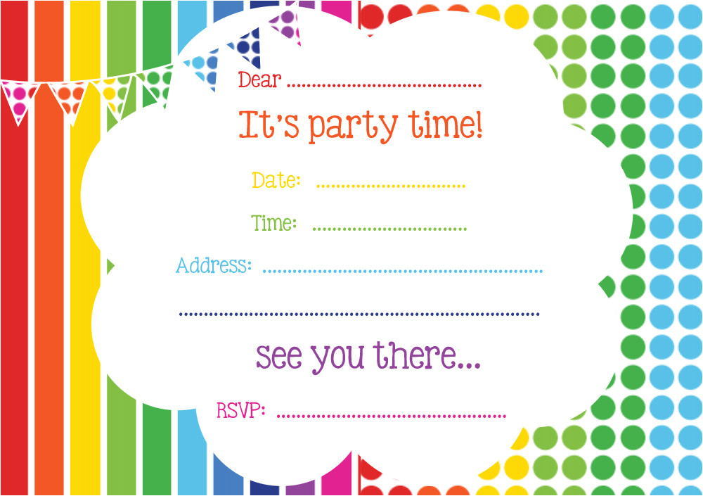 free printable birthday invitations online