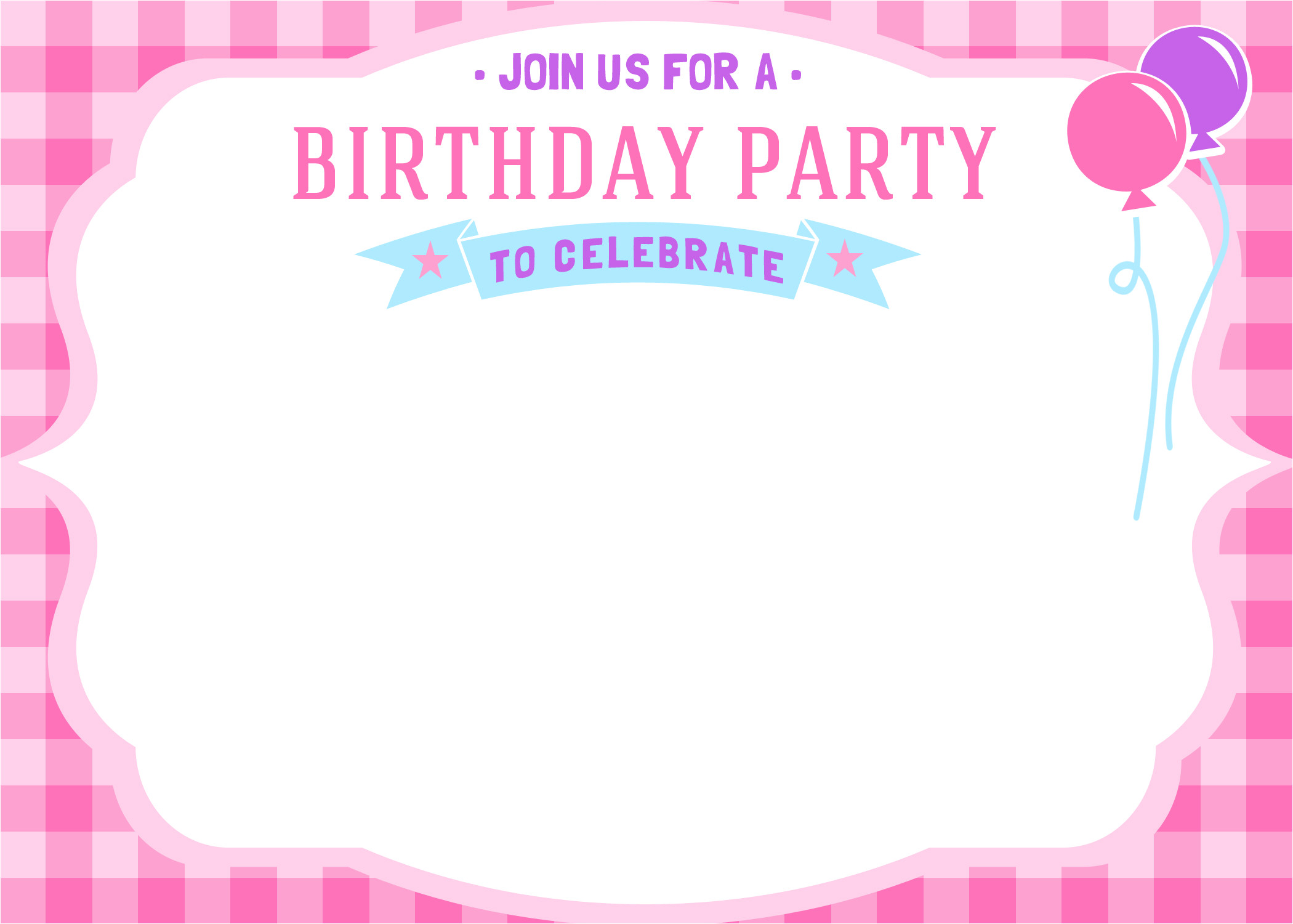 free printable girls birthday invitations