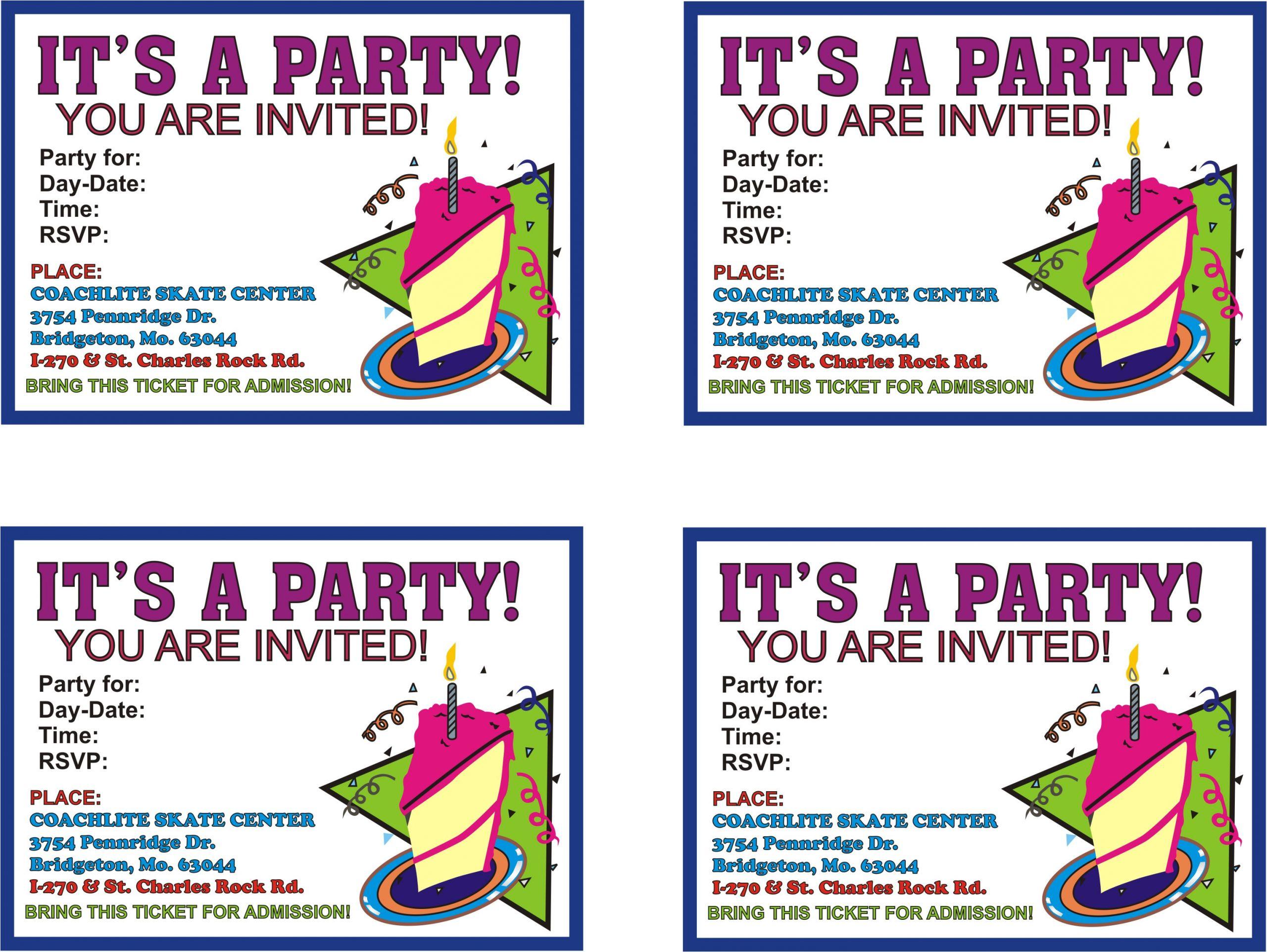 printable birthday invitations online free