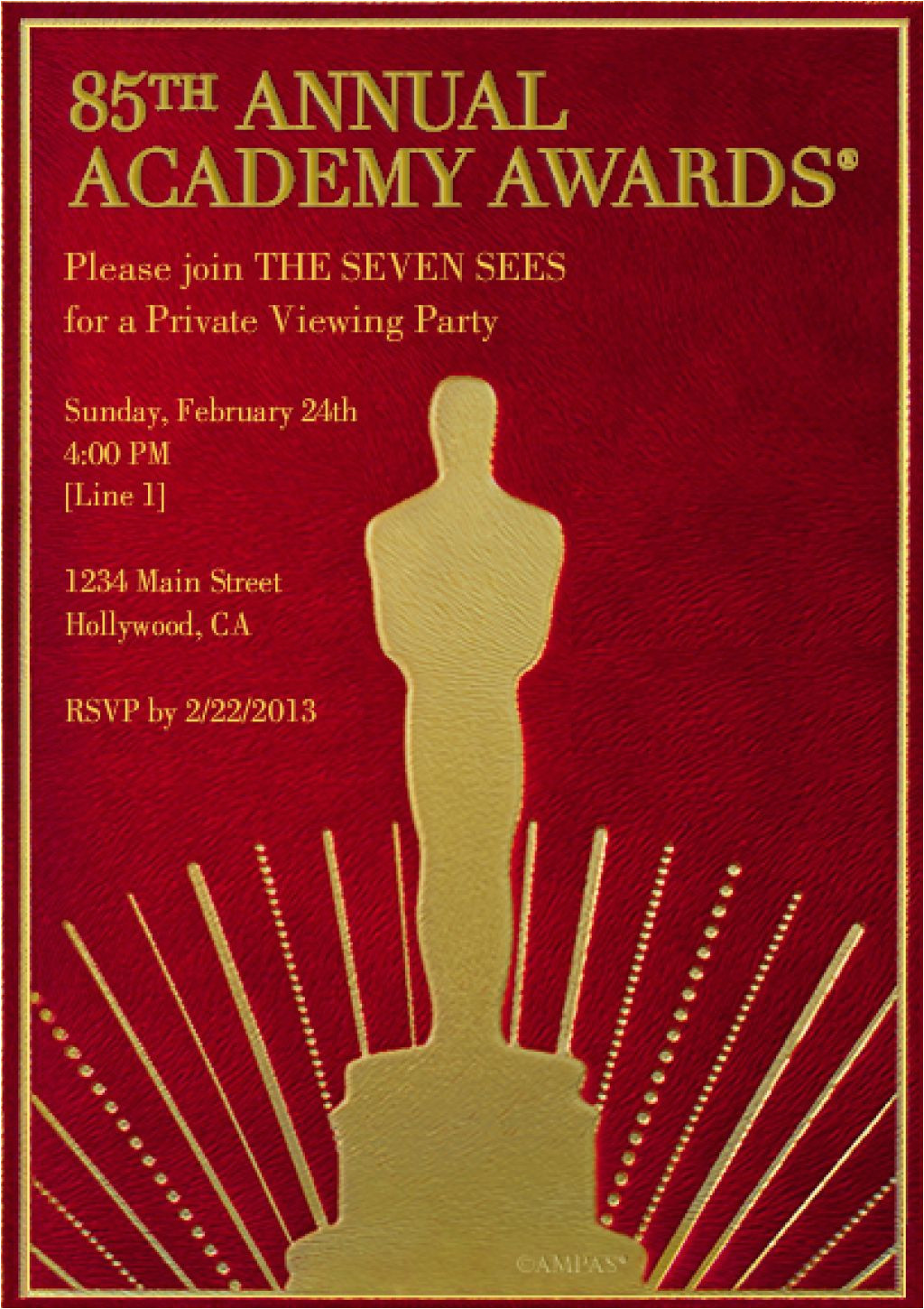 award invitation templates