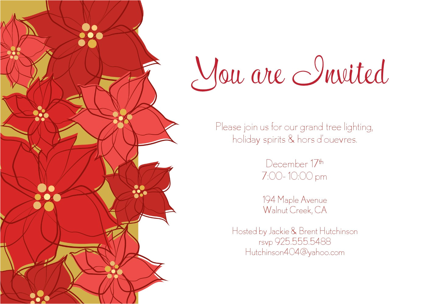 christmas invitations for outlook