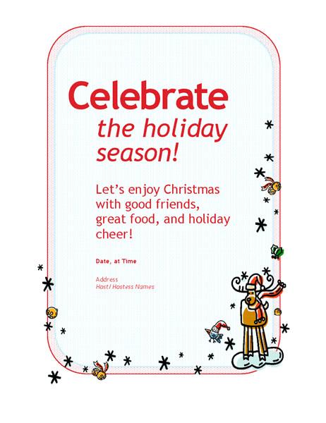 holiday party invitation tm02809921