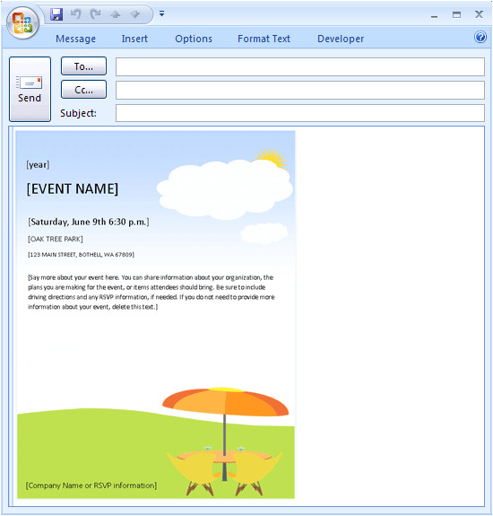 download free holiday email invite template