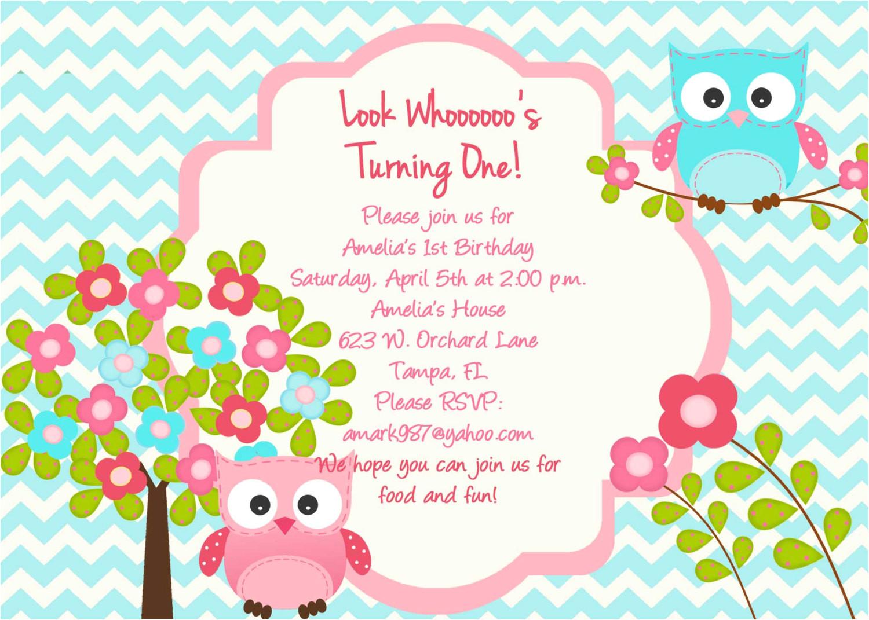 owl birthday party invitation owl