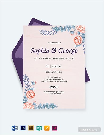 elegant traditional wedding invitation