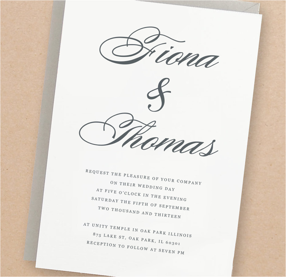 Pages Wedding Invitation Template Mac Printable Wedding Invitation Template Lucky Script Mac or