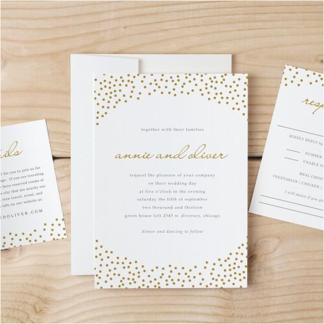 wedding invitation template download gold dots word or pages mac or pc instant download invitation printable diy