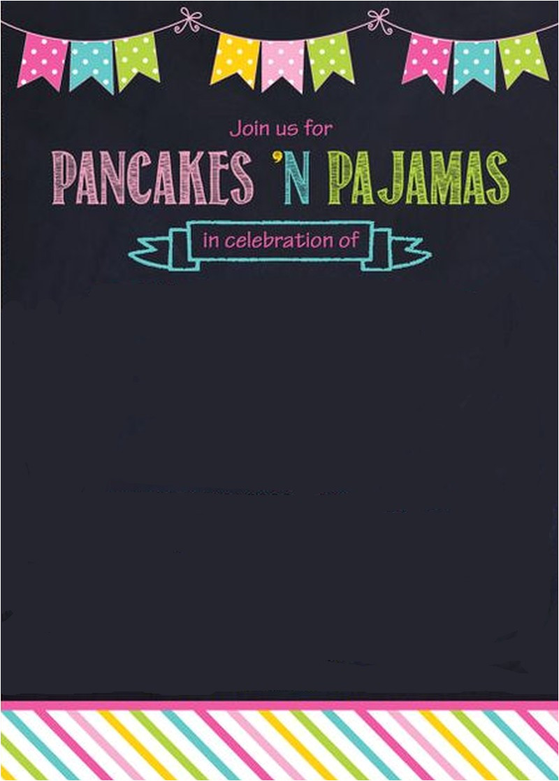 pancaces n pajama party invitation template