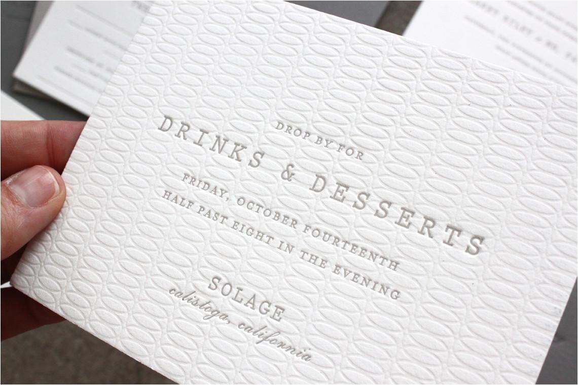 margaret patricks understated letterpress wedding invitations