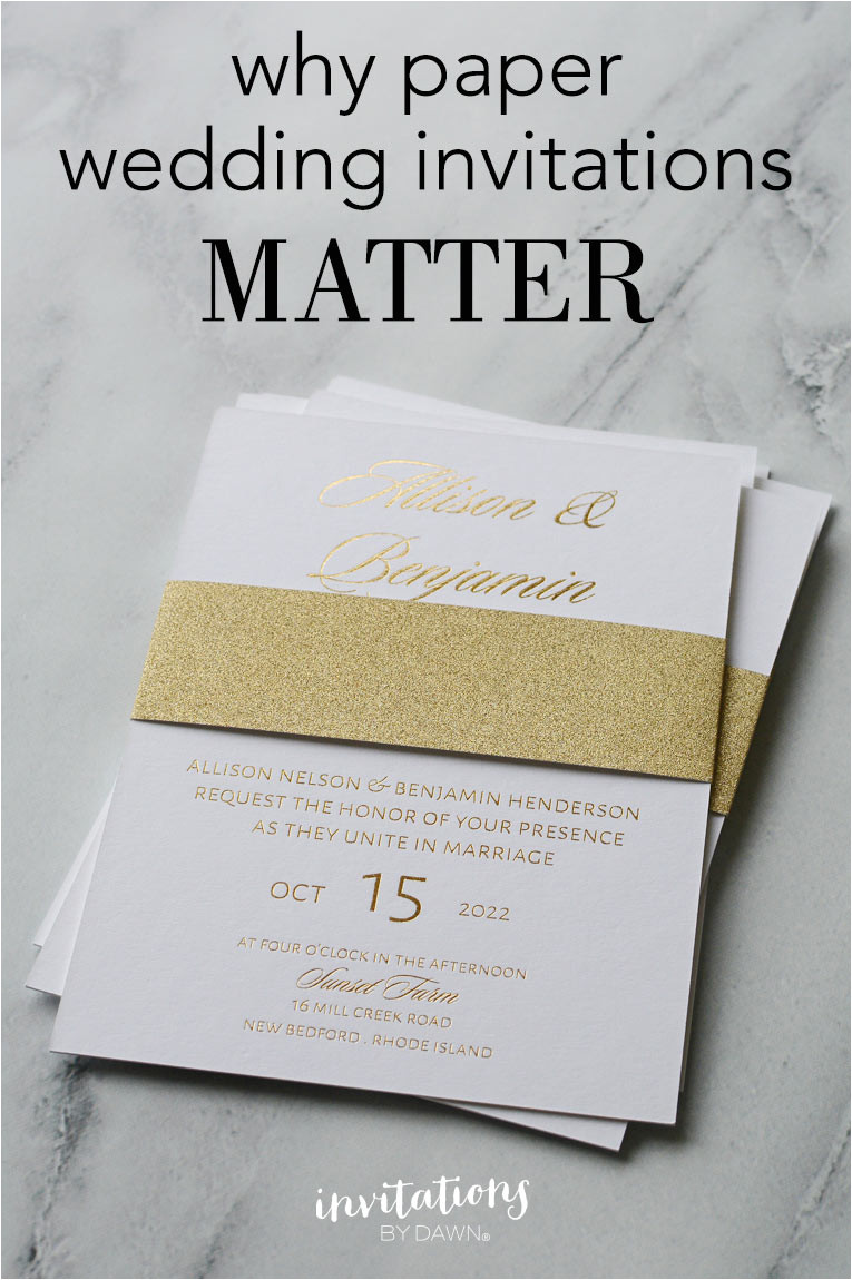why paper wedding invitations matter 14790