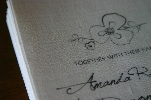 how to make your own linen invitations
