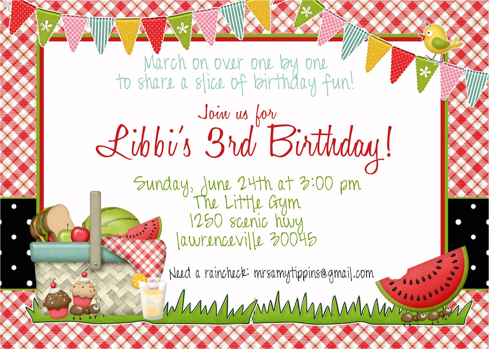 birthday invitation border templates
