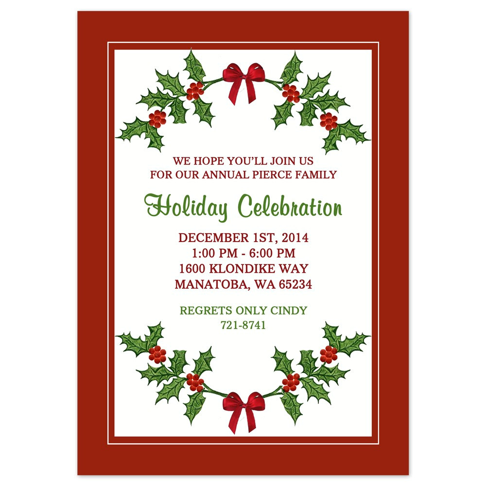 free downloadable holiday invitations