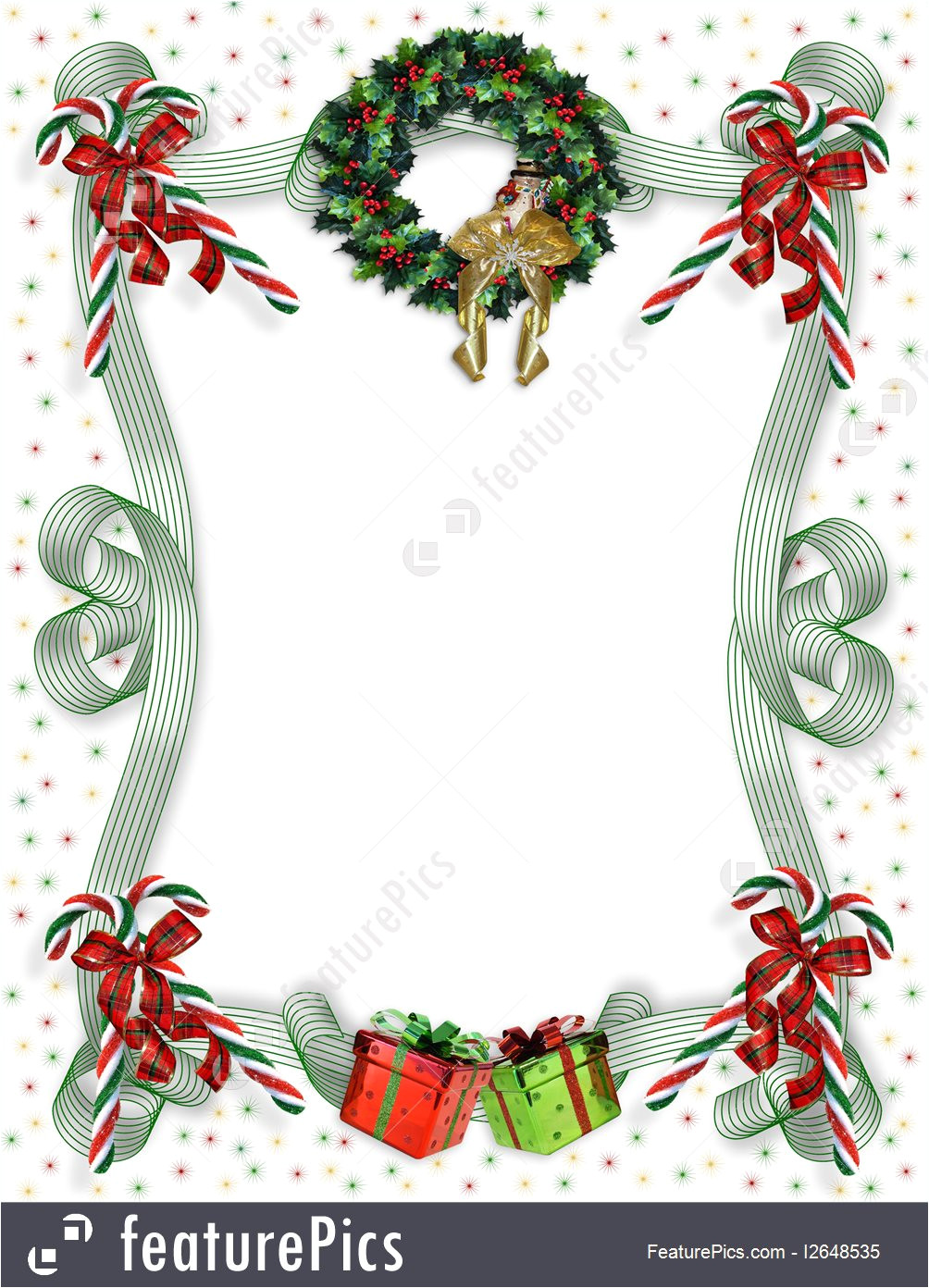 templates christmas border traditional 2