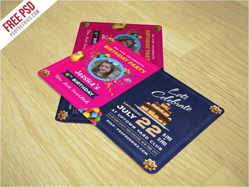 3041248 freebie birthday invitation card template free psd