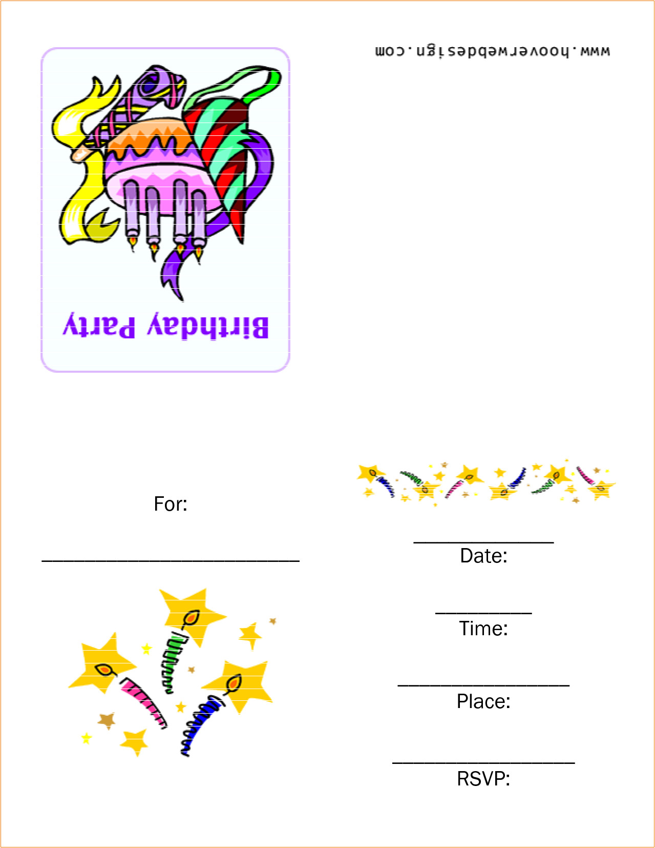 6 birthday party invitation template word