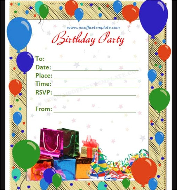Party Invitation Card Template Word Free 63 Printable Birthday Invitation Templates In Pdf