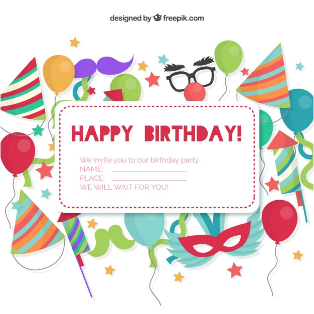birthday invitation card 778770