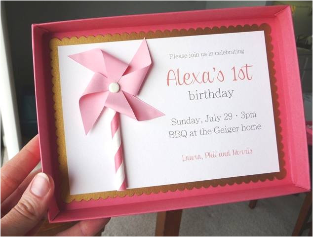first birthday party invitations no envelopes required
