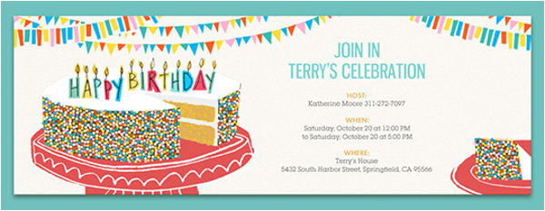 e mail party invitation