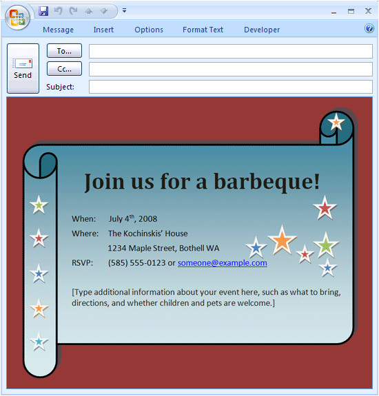 email bbq invitation 309