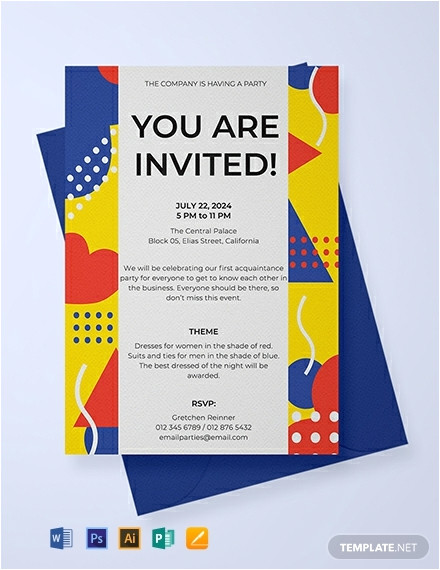 email party invitation
