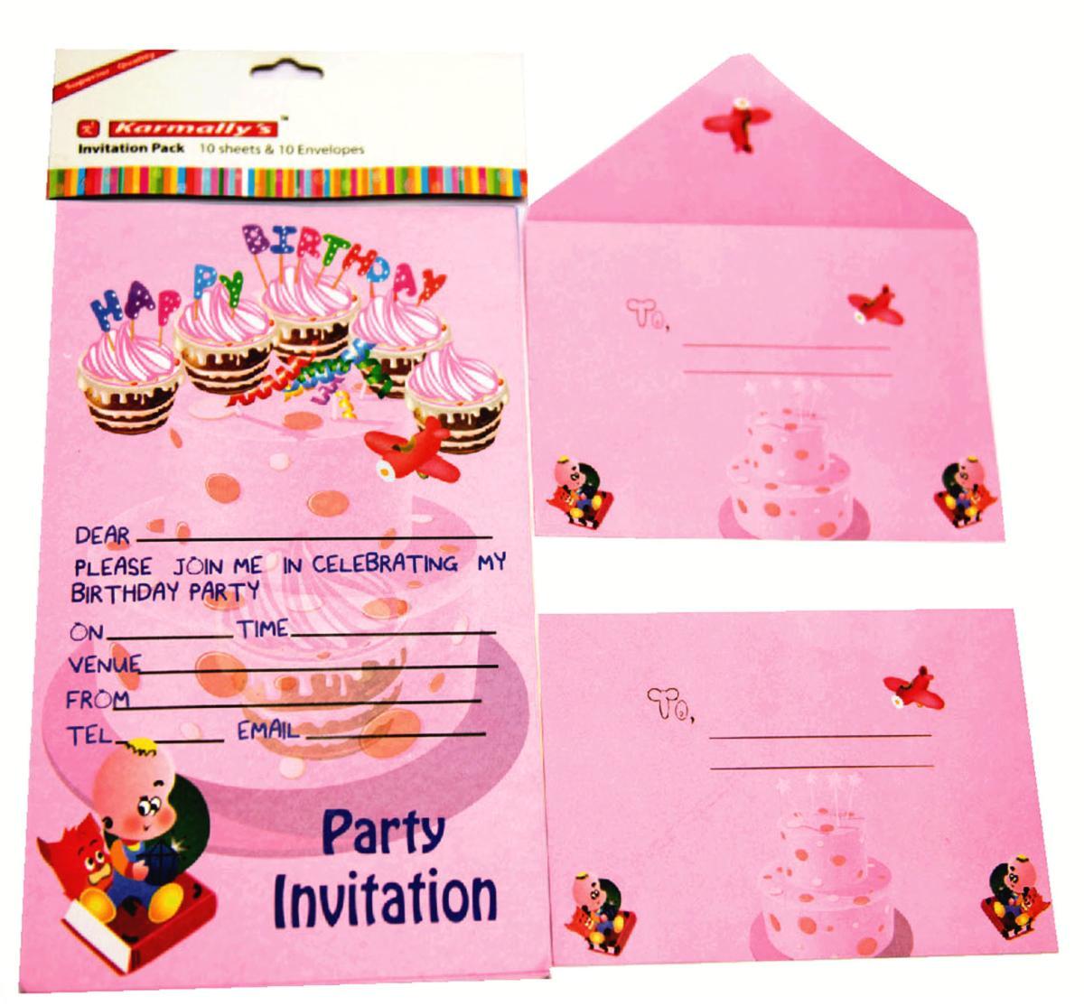 birthday invitation envelopes
