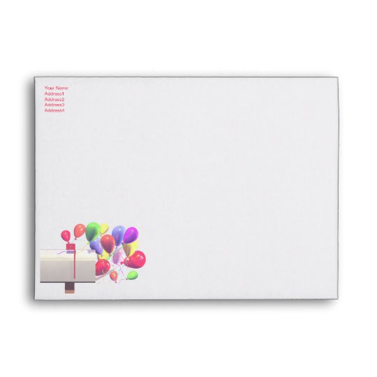 birthday party invite balloon mail a7 envelope 121317535282851291