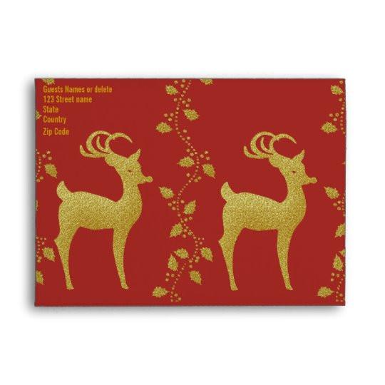 elegant gold christmas party invitation template envelope 121901149851550160