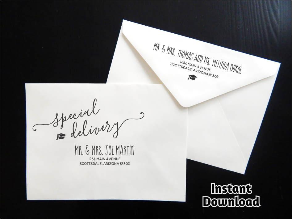 graduation party envelope template