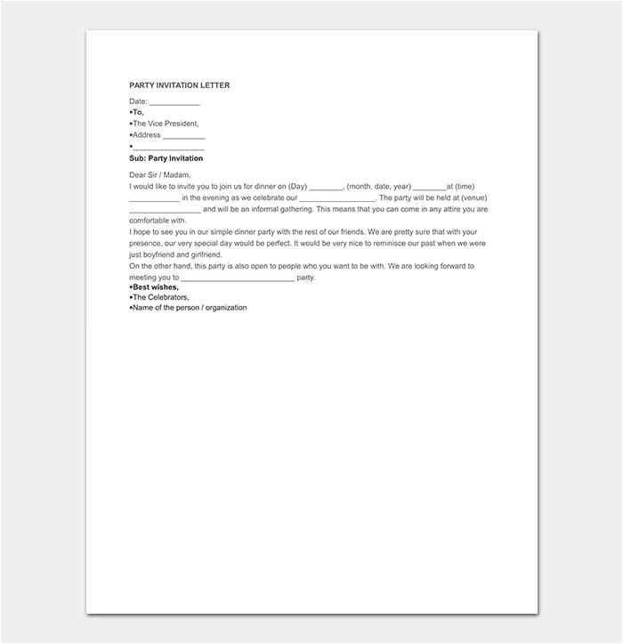 invitation letter template