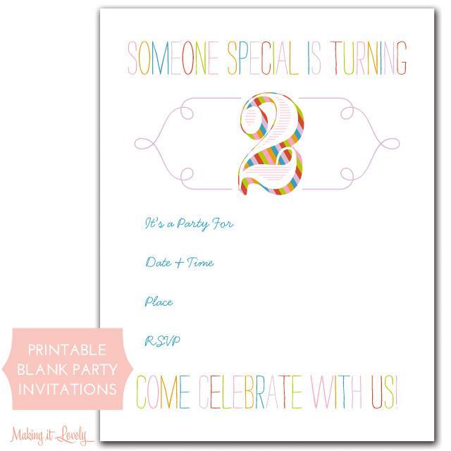 birthday invitation maker printable free
