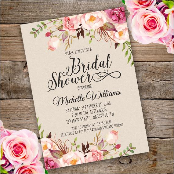 floral bridal luncheon invitation template edit adobe reader copy