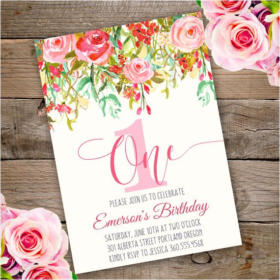 first birthday party invitation