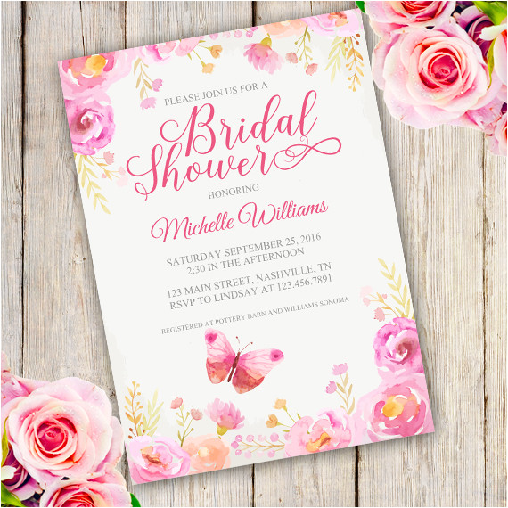 floral bridal shower invitation template edit with adobe reader 2