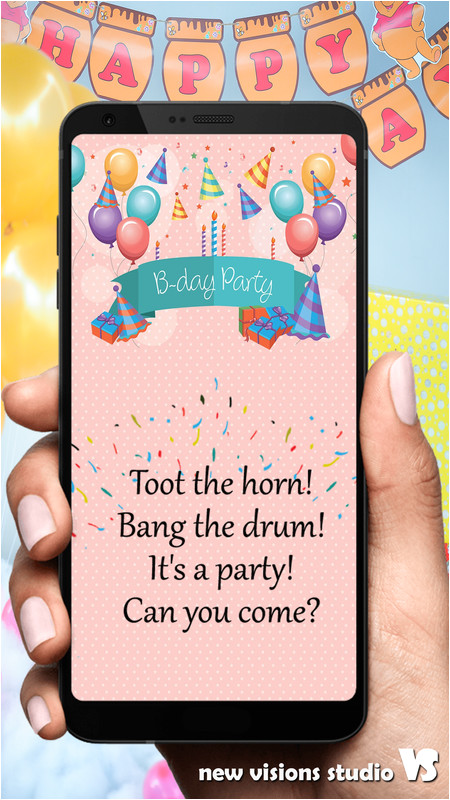 party invitation design app