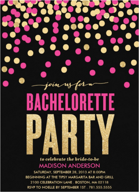 sample bachelorette invitation