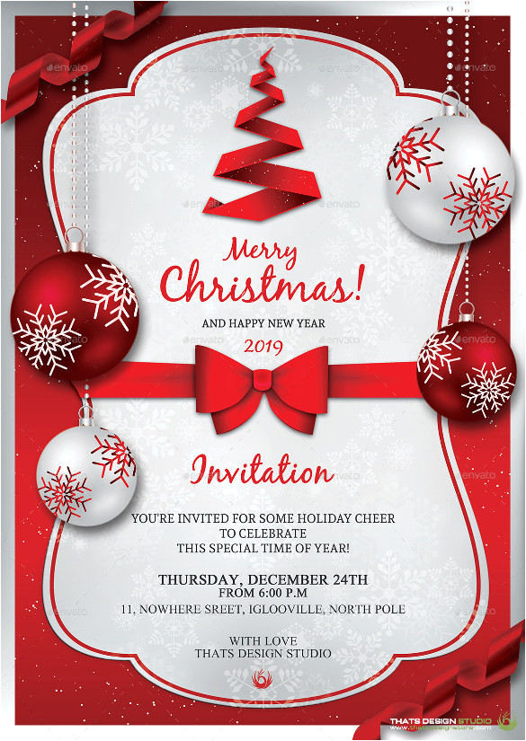 sample christmas invitation