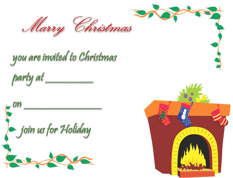 christmas party invitation template free printable