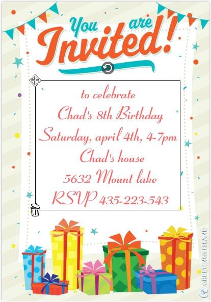 birthday party invitation templates 11