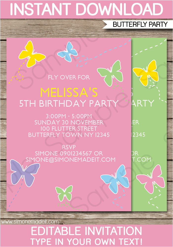 free editable birthday invitation templates