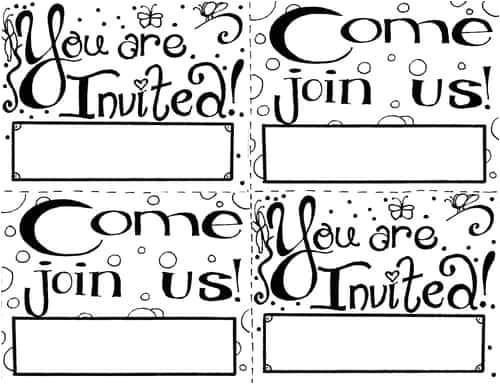 invitation coloring page