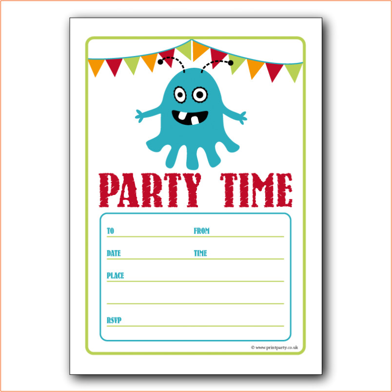 7 party invitation template word