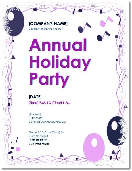 free holiday party invitation templates