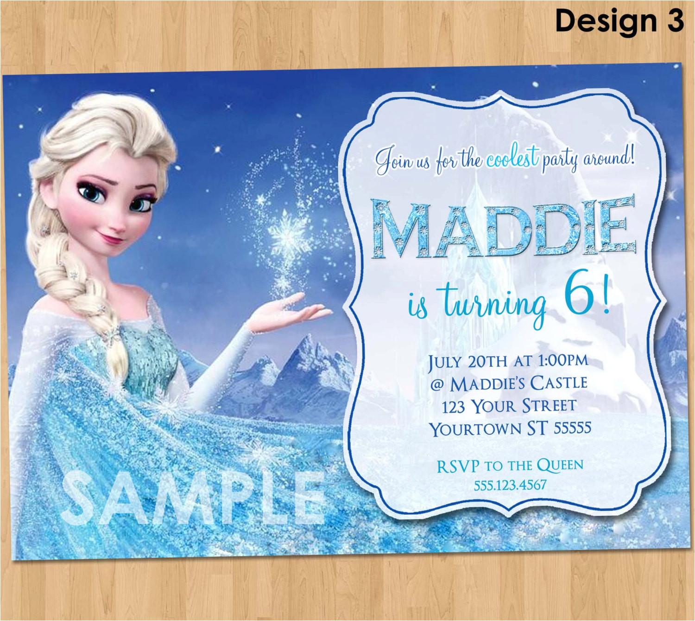 frozen birthday invitation elsa frozen