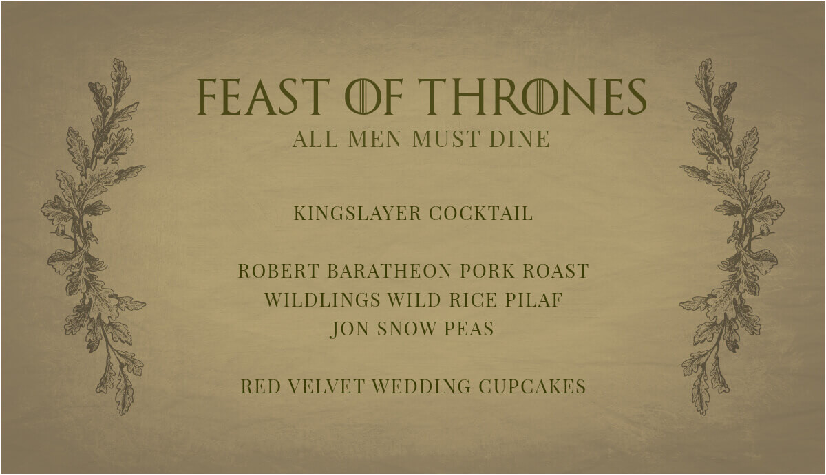 free printables for your game of thrones watch party