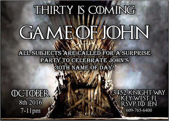 game of thrones invitation digital