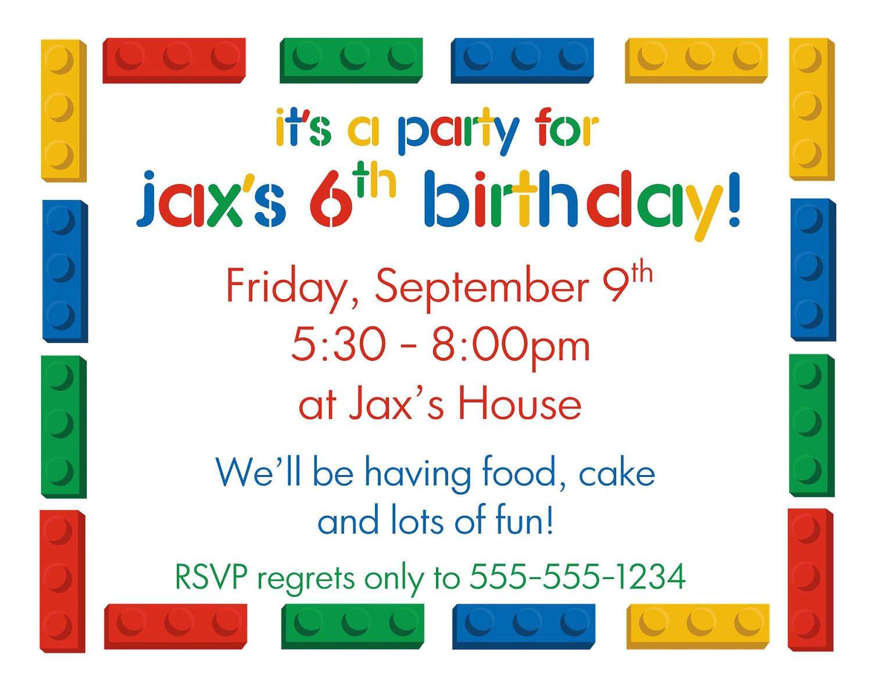 birthday party invitation template google docs