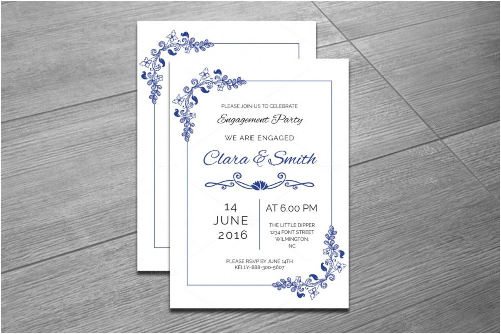 20 engagement invitation template word indesign psd format