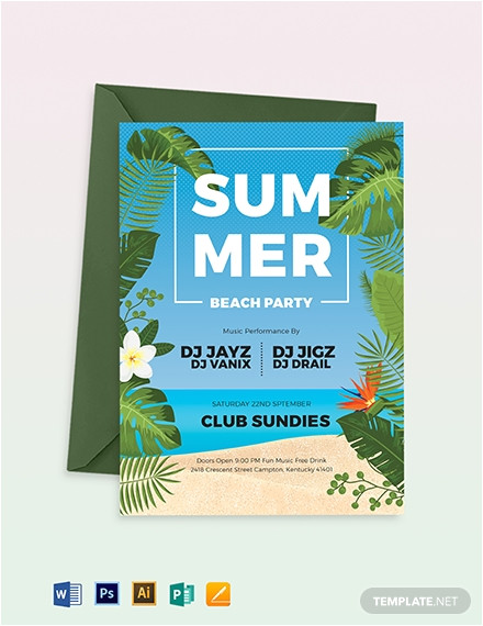 summer picnic party invitation